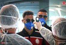 Photo of بعثة الوداد تصل الحمامات عبر طائرة خاصة وسط إجراءات صحية احترازية