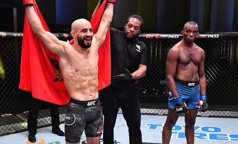 عثمان أبو زعيتر يتوج بلقب UFC بالضربة القاضية