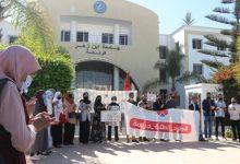 Photo of وقفة احتجاجية أمام رئاسة جامعة ابن زهر تنديدا بطرد الطلبة الثلاثة
