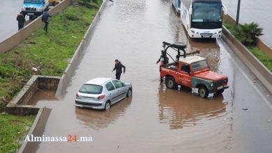 Photo of فيديو: لحظة عملية انقاذ سيارة من الغرق بالطريق السيار البيضاء – المحمدية