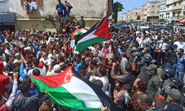 أكثر من 20 تظاهرة تضامنا مع القدس وغزة بعدد من المدن المغربية