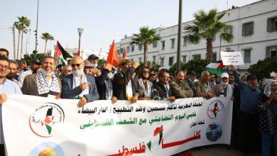 أطياف سياسية مختلفة بالبيضاء شاركت في تظاهرة تضامنية مع فلسطين
