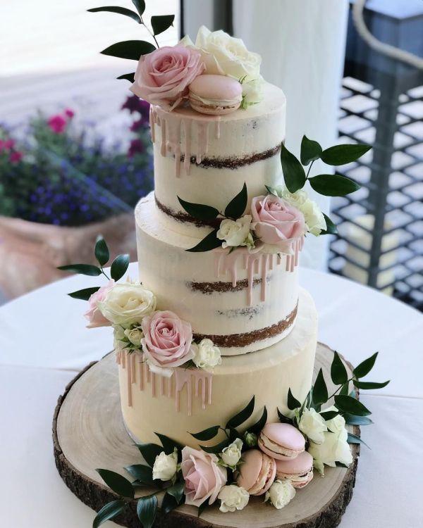 Белые свадебные торты (58 фото)