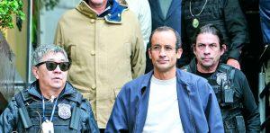 Marcelo Odebrecht (inferior derecha), exdirector de Odebrecht, S.A., y Otavio Márquez Acevedo, gerente general de Andrade Gutiérrez, S.A., (segunda fila, izquierda).
