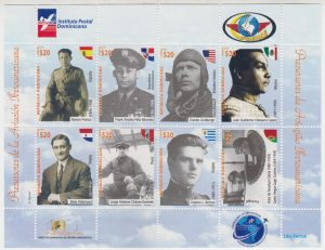 INPOSDOM inmortaliza pilotosen sellos postales