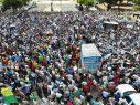 Miles de dominicanos marcharon contra reforma para otra reelección de Medina