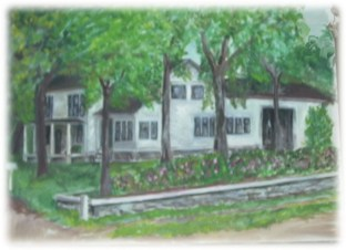 Painting of Charles Karrs house