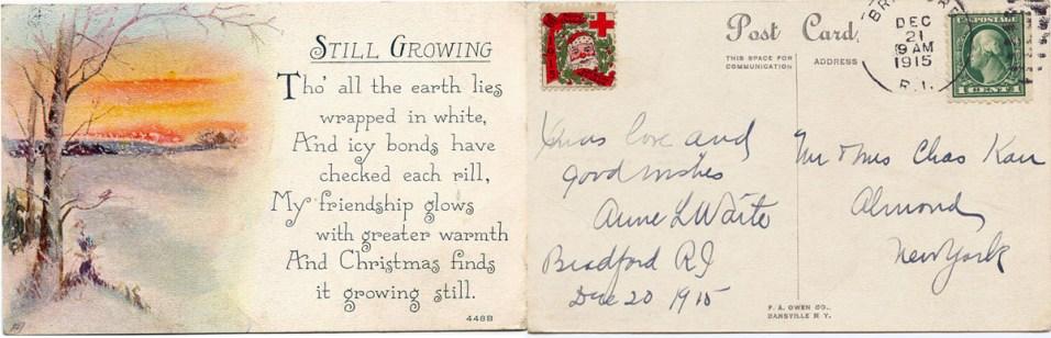Postcard from Anne L Waite