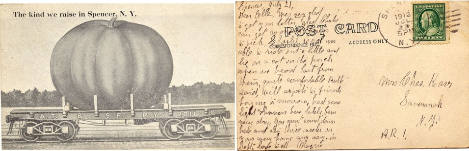 Postcard from Maggie to Ella July 1912
