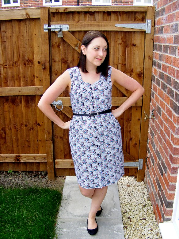 almond rock sew bossy what katie sews wax print lea dress