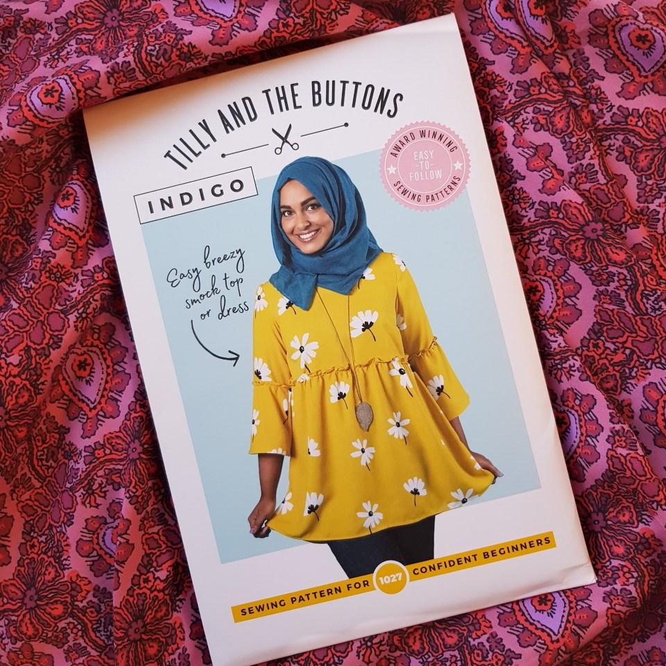 Almond rock tilly and the buttons indigo dress top #sewingindigo Paris fabric sacres Coupons