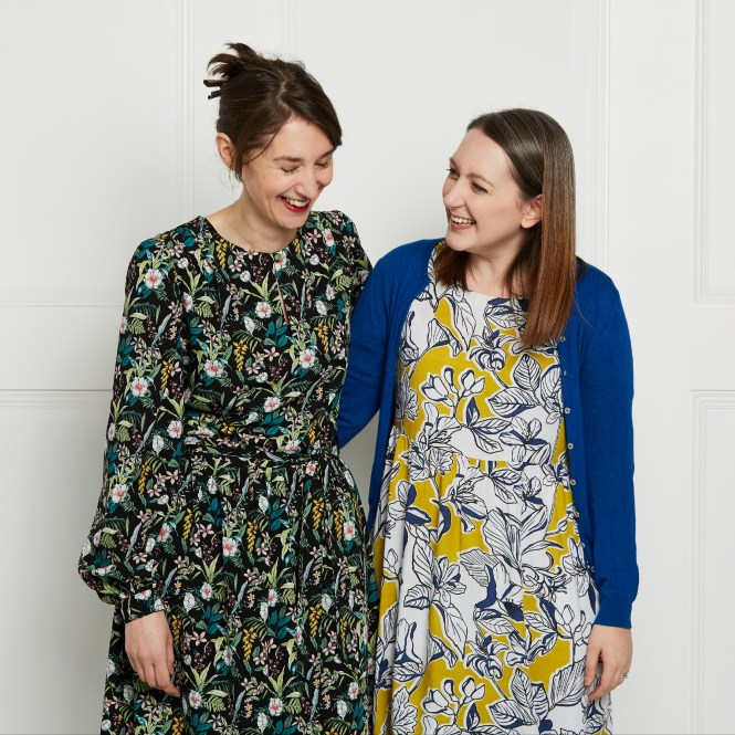 Almond rock sewing dressmaking indigo dress tilly and the buttons gold yellow selvedge and bolts viscose floaty fabric cady