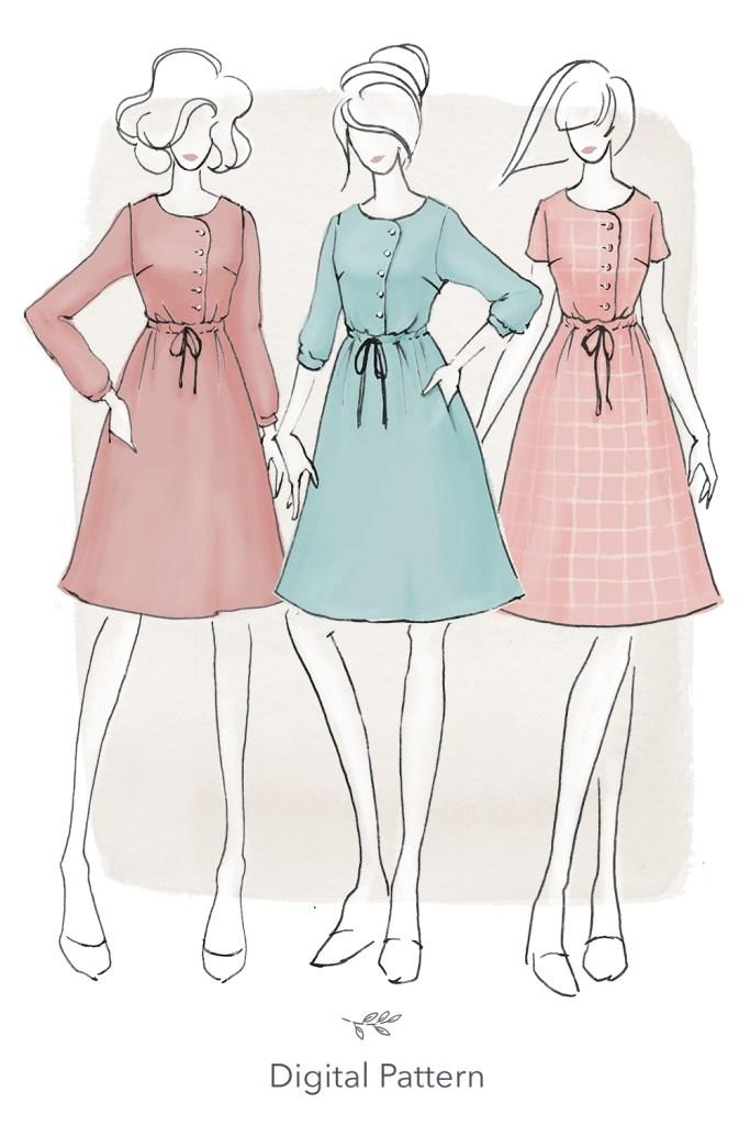 Jennifer Lauren Handmade Mayberry dress almondrock