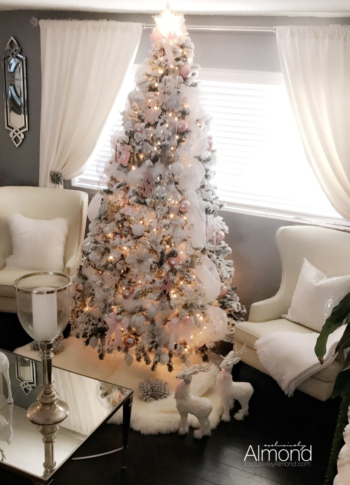 Blush pink Christmas tree decorations Christmas Decorating ideas 2017