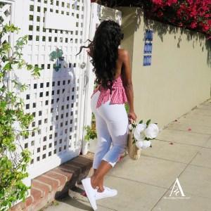 White Capri Pant women