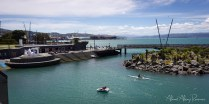View from atop civic Square - Taranaki Street Wharf & Underground market