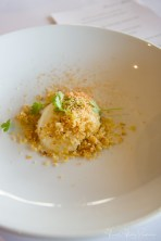 Clayton bowls 5 course degustation- slow cooked hens egg