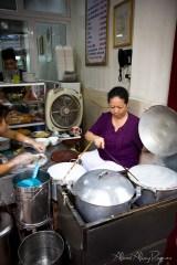 Hanoi, Vietnam - freshly made banh cuon