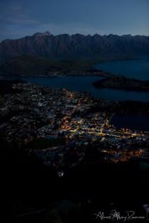 Queenstown at night, New Zealand