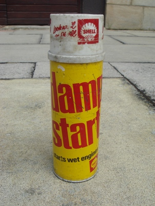 garage shell damp start retro