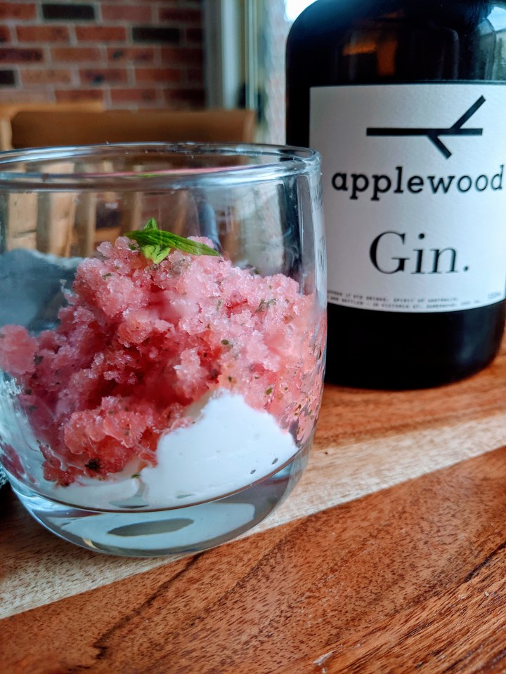 Watermelon & Gin Granita