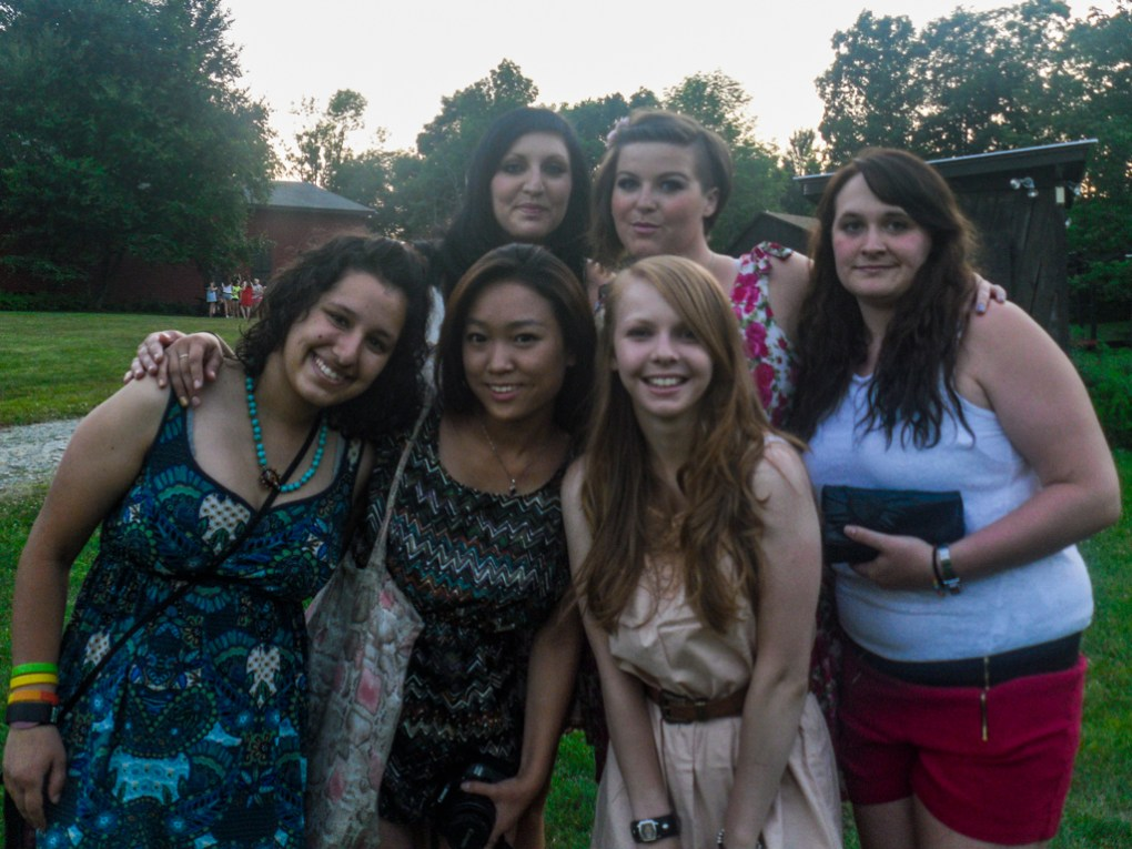 Camp counsellors before a DJ Dance at Camp Ballibay Performing Arts Camp in Pennsylvania, USA