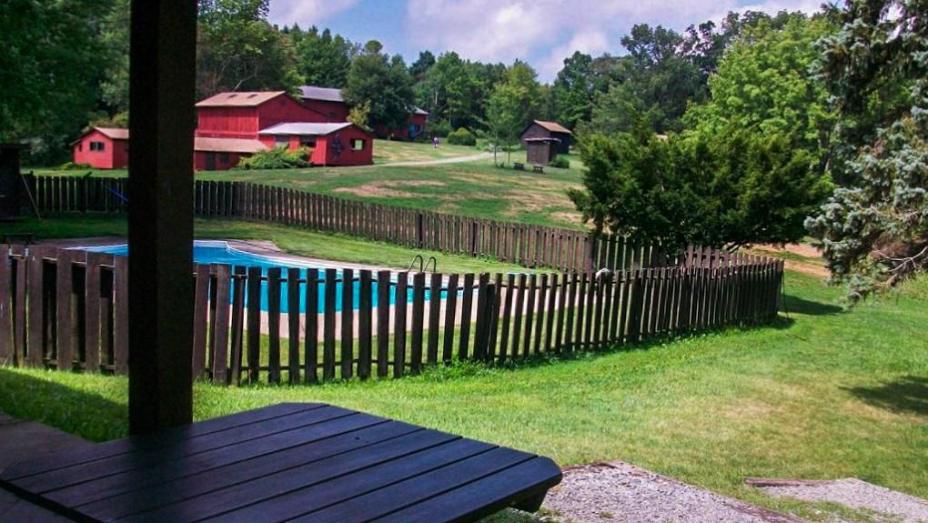 Swimming pool at Camp Ballibay Performing Arts Camp in Pennsylvania, USA