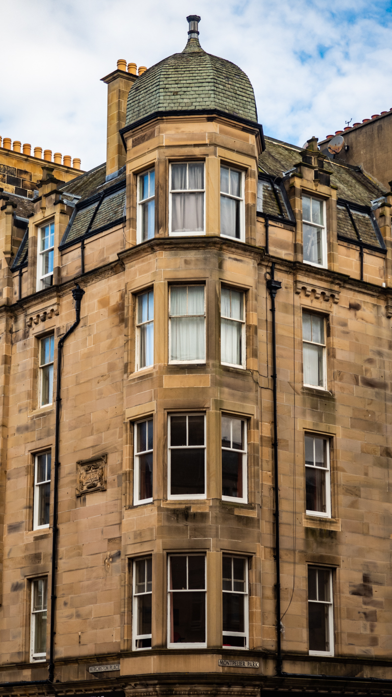 1 Merchiston Place in Edinburgh which is a Trainspotting film location