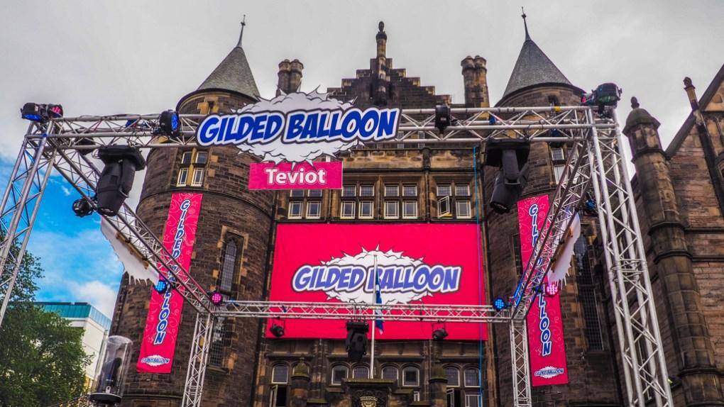 Gilded Balloon at Teviot Place venue during the Edinburgh Fringe Festival in Scotland, UK