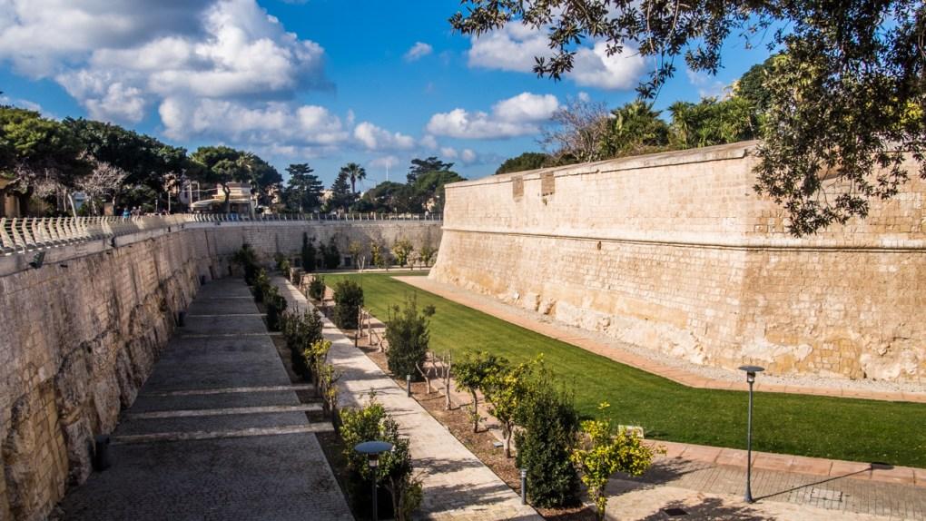 Mdina City walls in Mdina, Malta