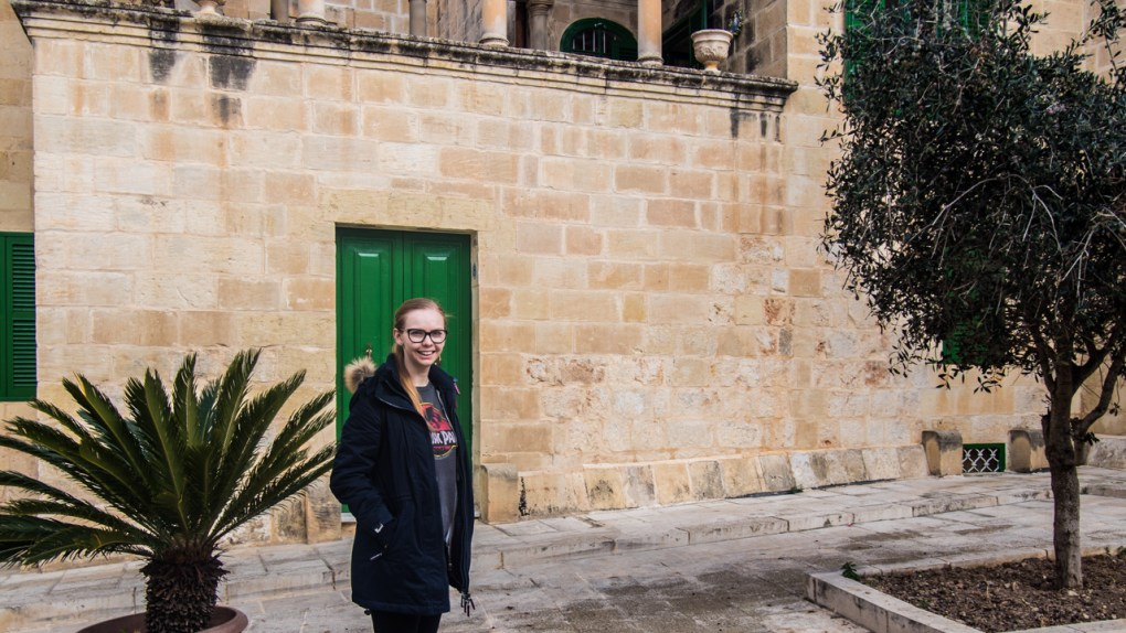 Almost Ginger blog owner in Mdina, Malta