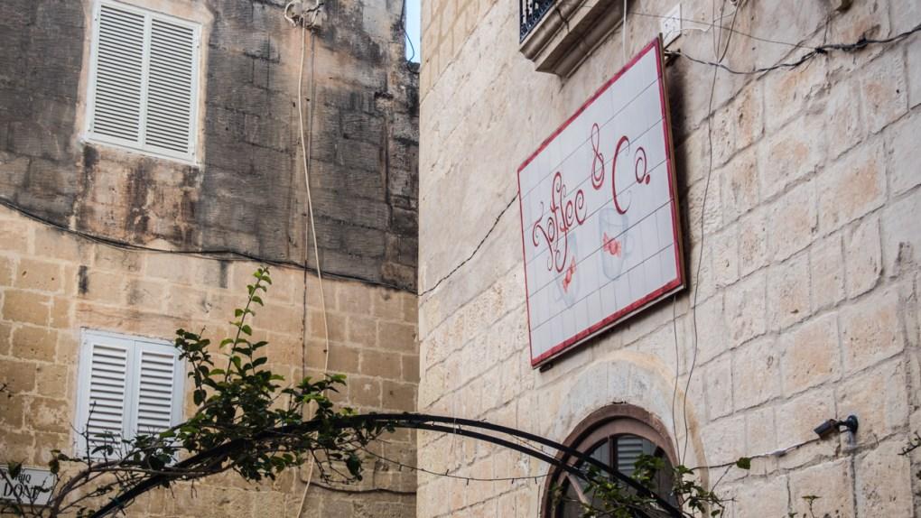 Outside Toffee & Co. in Rabat, Malta