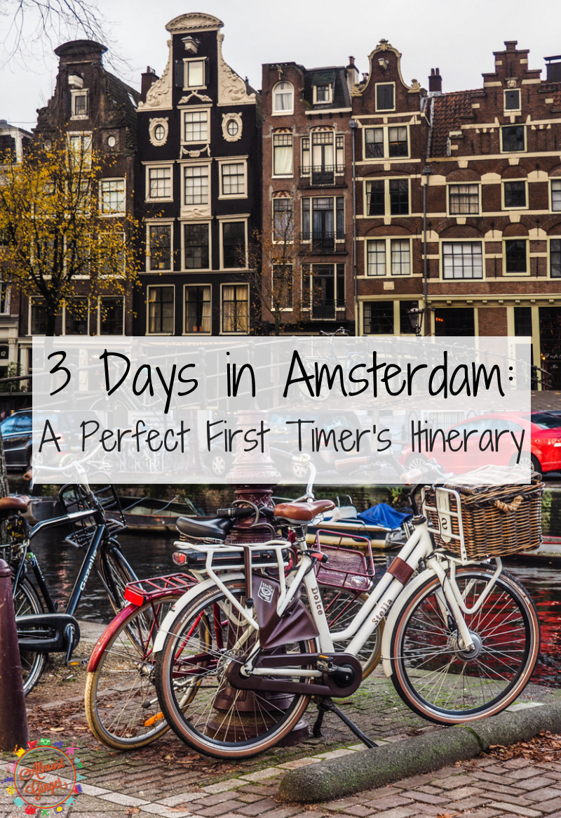 3 Days in Amsterdam: A Perfect First Timer's Guide | Weekend in Amsterdam Guide | Weekend Amsterdam itinerary | Hunting tulips and clogs in Amsterdam, drinking Heineken in Amsterdam, Red Light District Amsterdam, Museums in Amsterdam, Stroopwafels, Dutch pancakes and fries in Amsterdam, Cycling in Vondelpark, Canal boat cruise and wandering Amsterdam Canal streets | almostginger.com