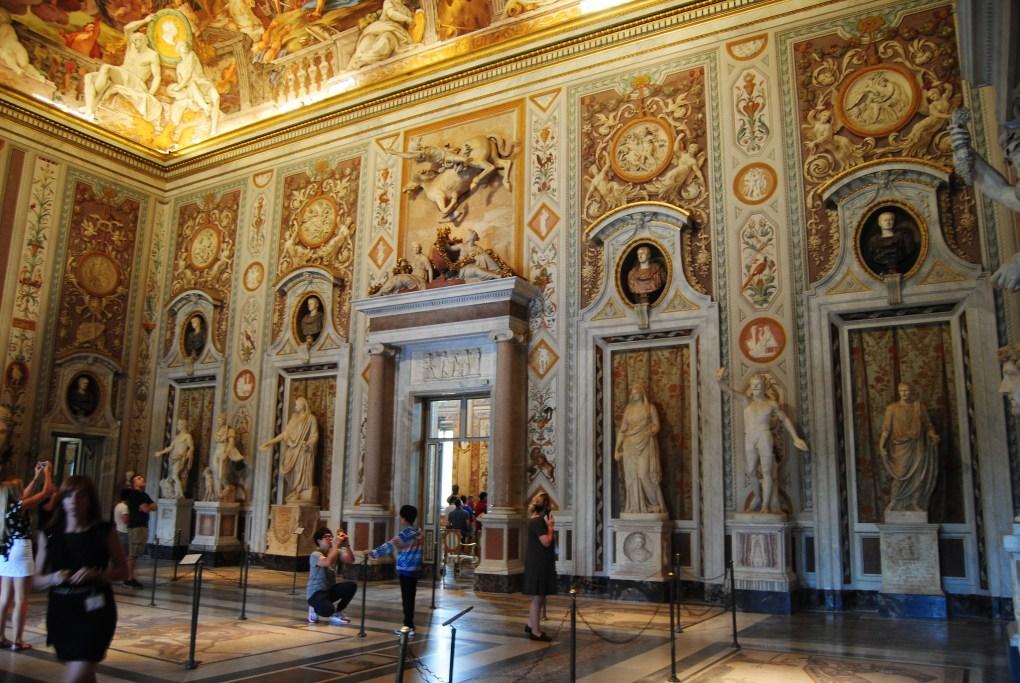 Inside Galleria Borghese in Villa Borghese in Rome, Italy