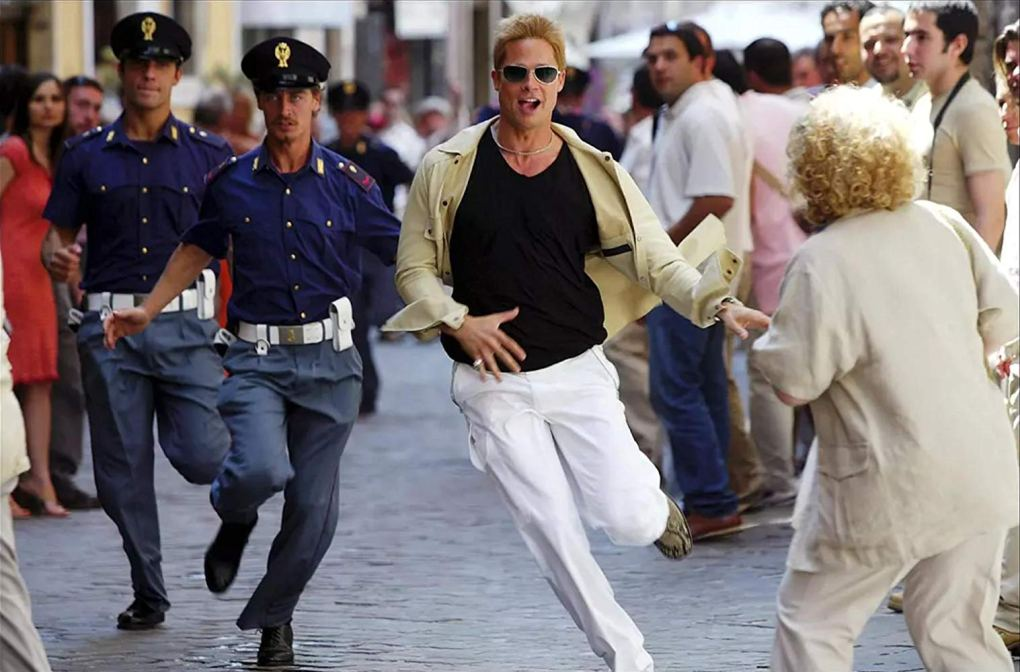 Still from Ocean's Twelve, a Hollywood film location in Rome, Italy