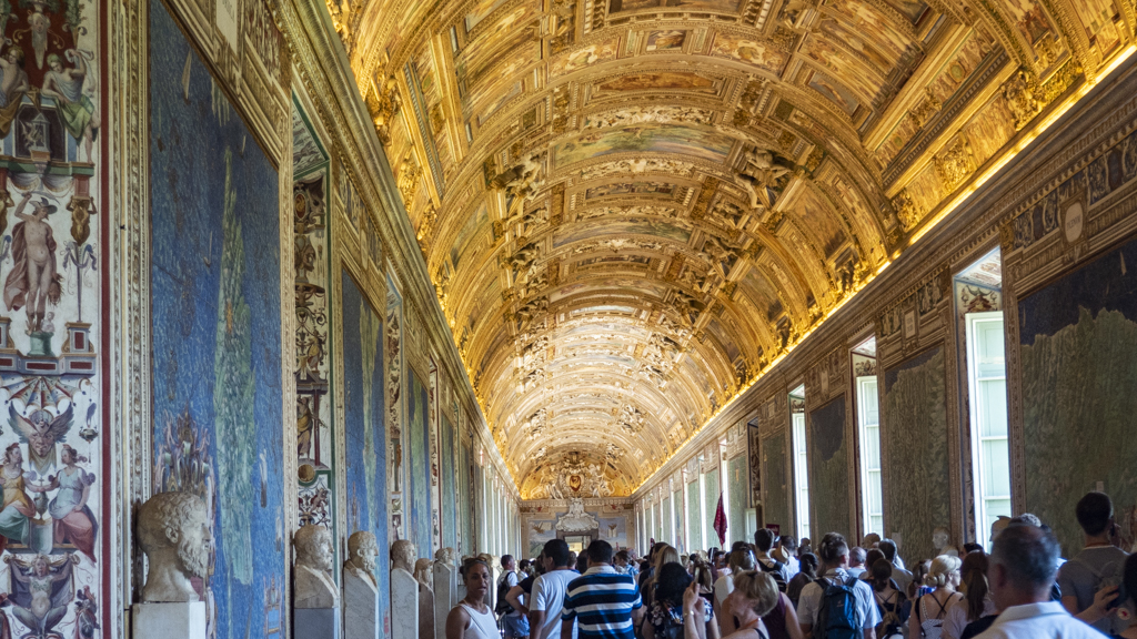 Inside the Vatican Museums in Vatican City