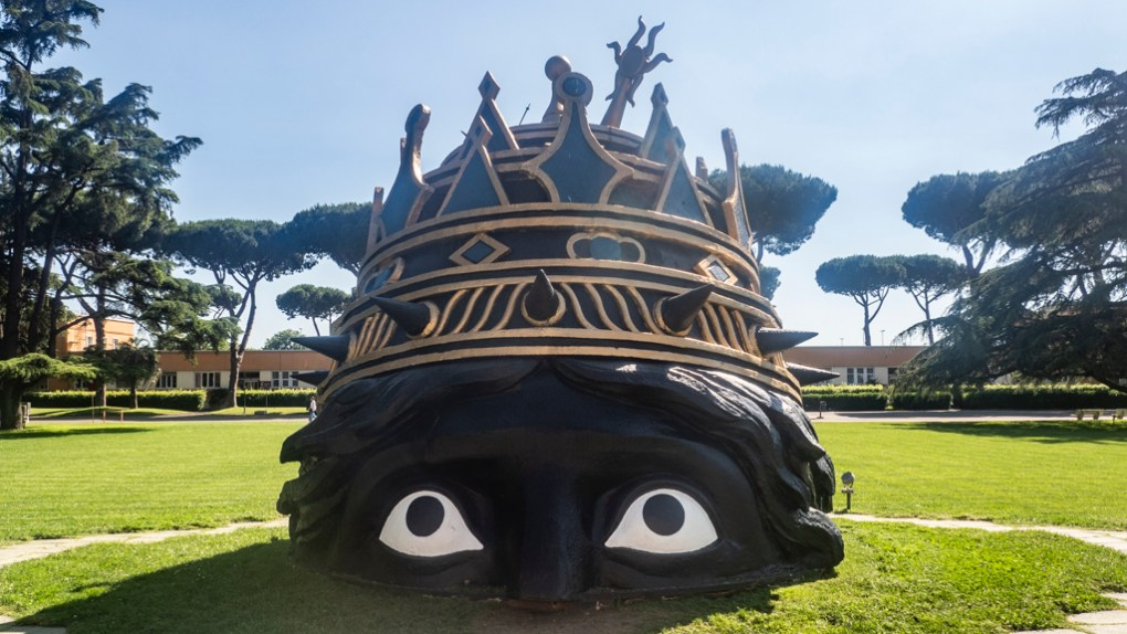 Head of Vesuvius from Fellini's Casanova at Cinecittà Studios, one of the top things to do in Rome for film lovers
