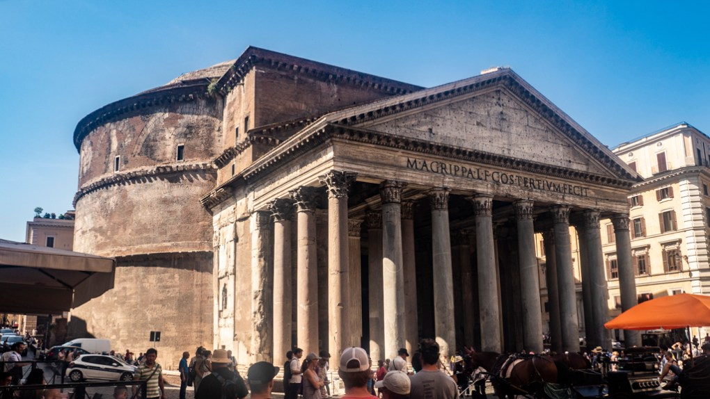 Pantheon in Rome, a Roman Holiday Filming Location