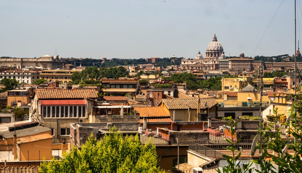 View over Rome from Villa Borghese