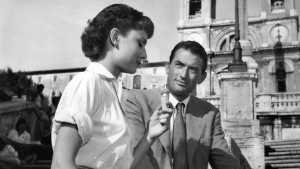 Anne and Joe on the Spanish Steps, Rome in Roman Holiday (1953)