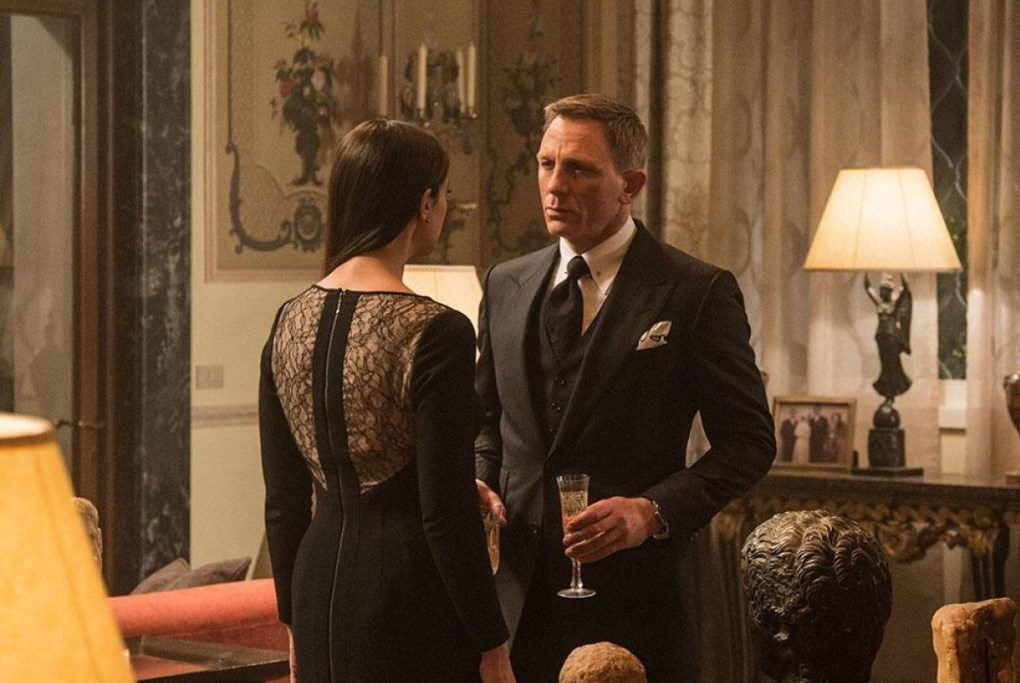 Still from Spectre, a Hollywood film location in Rome, Italy