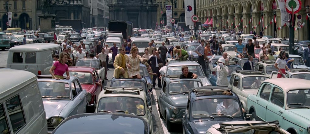 The Italian Job, one of the top films set in Italy