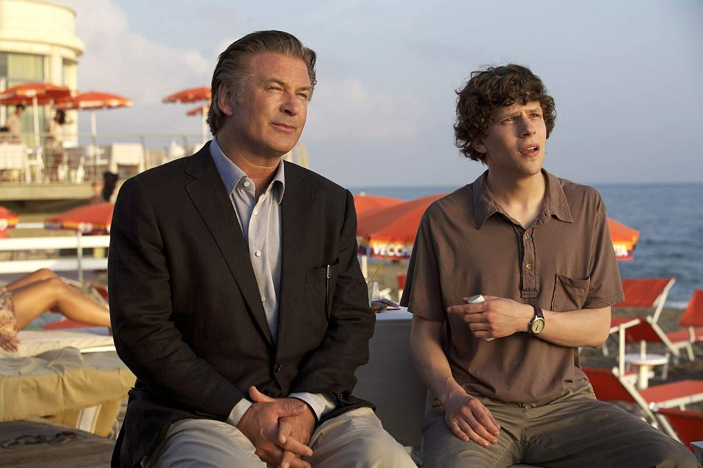 John and Jack sat in the beachside bar in To Rome with Love (2012)