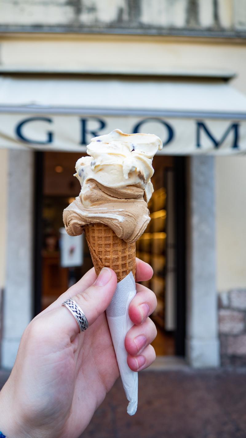 Gelato from GROM Gelateria in Trento, Italy