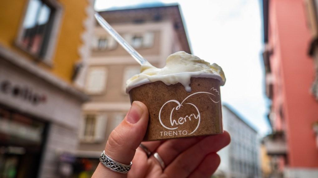 Gelato from Cherry Gelateria in Trento, Italy