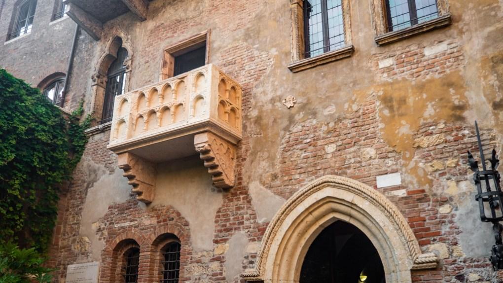 Casa di Giulietta/Juliet's House balcony in Verona, Italy