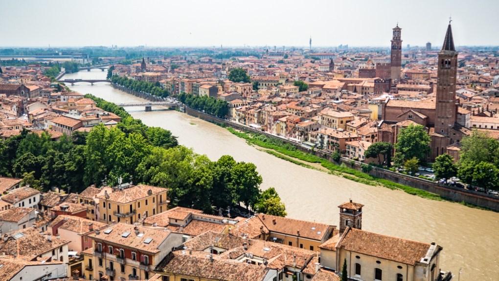 View from Castel San Pietro in Verona, Italy