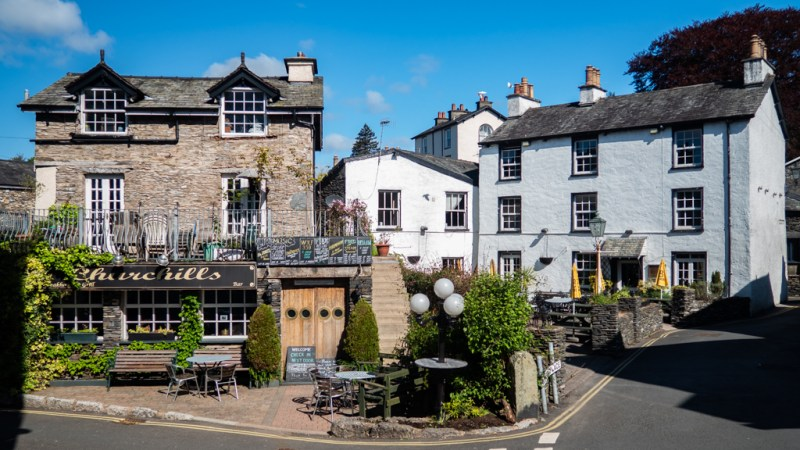Houses in Bowness-On-Windermere in the Lake District, UK