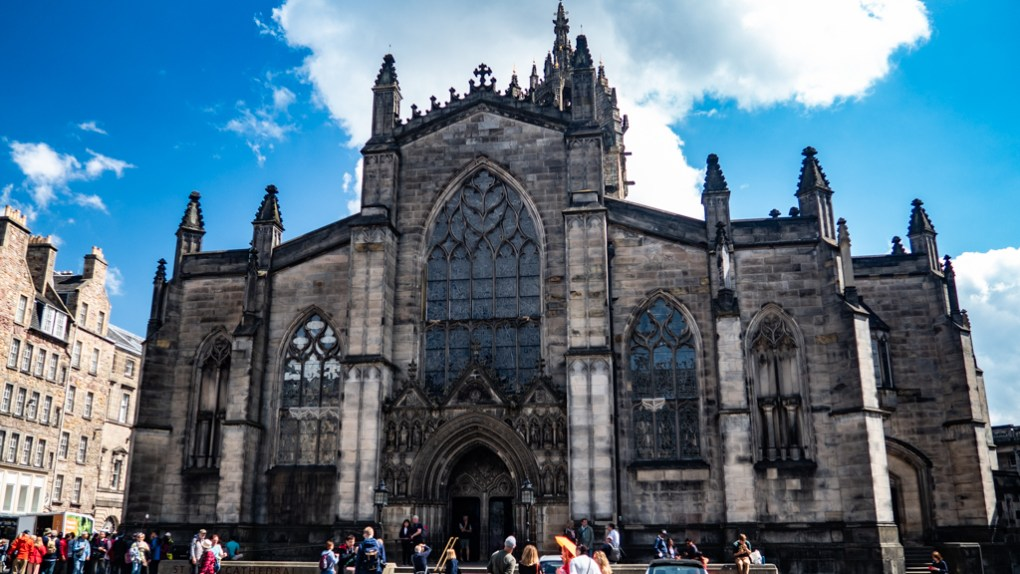 St Giles Cathedral on the Royal Mile in Edinburgh, Scotland