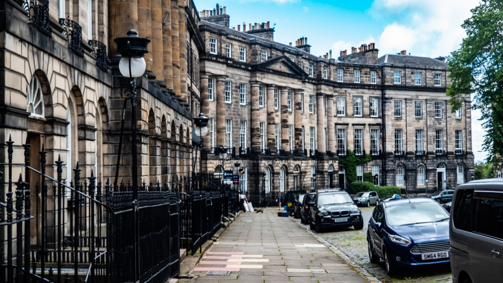 Moray Place in Edinburgh, UK which is a One Day Filming Location